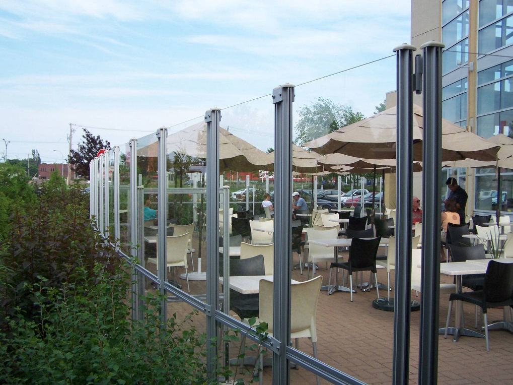 ... Contemporary Screen / Aluminum / Commercial / Patio WINDSCREENS  OMBRASOLE ...