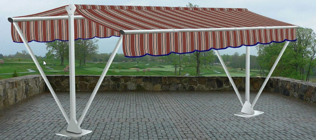 Free-Standing Awning / Manual / Double-Slope / Commercial