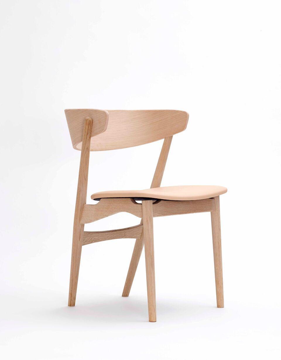 Scandinavian Design Chair Wool Oak Bentwood No 7