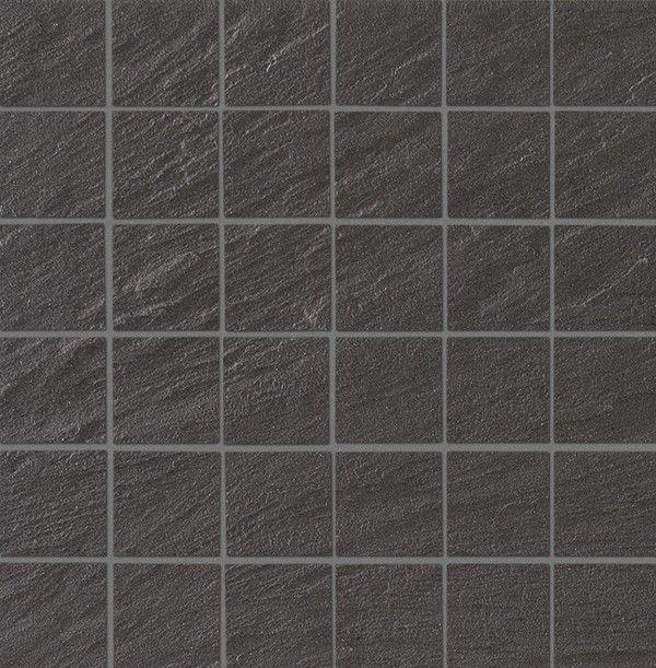 floor tile / wall / ceramic / matte - dark grey slate - terratinta