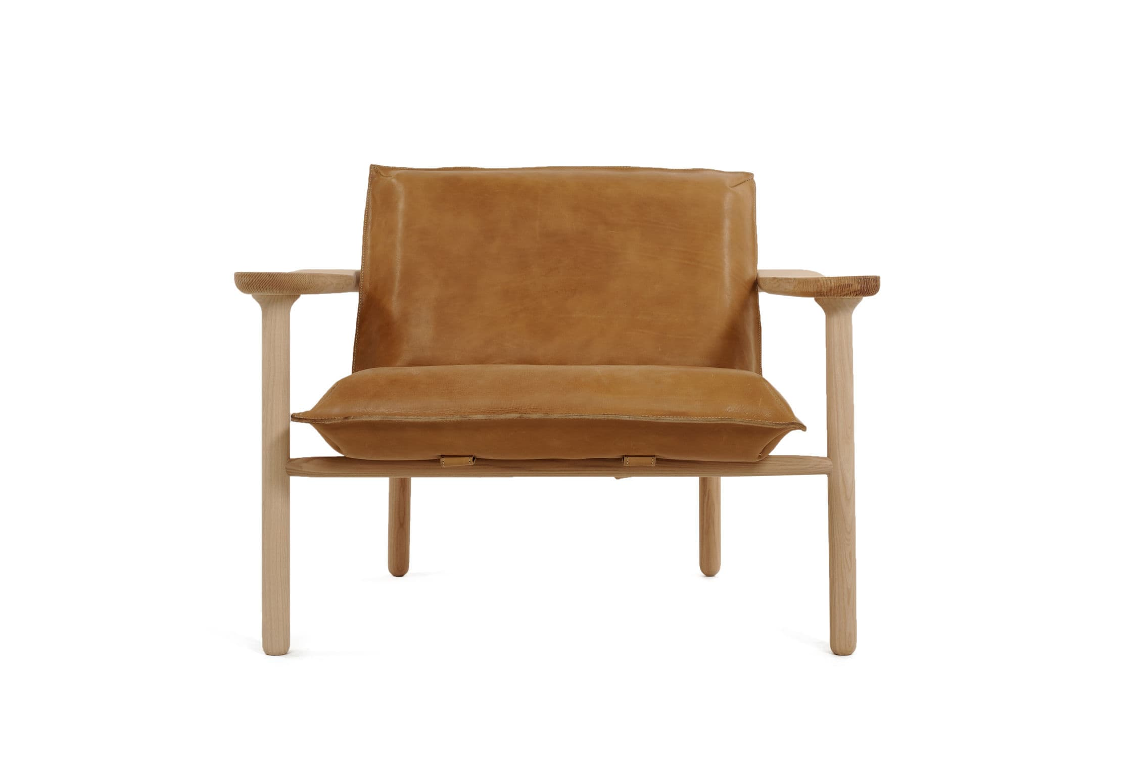 ... Scandinavian design armchair / solid wood / leather IGMAN by Harri  Koskinen Zanat ...