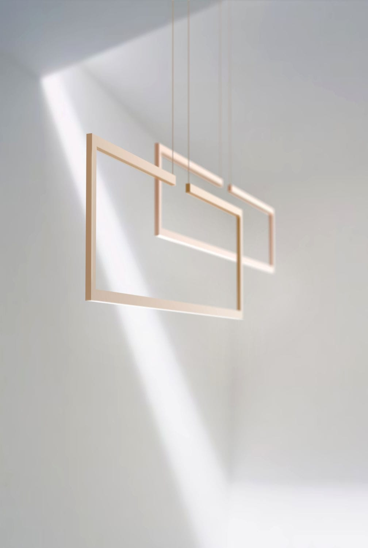 Pendant lamp / minimalist / aluminum / LED - FRAME - inarchi
