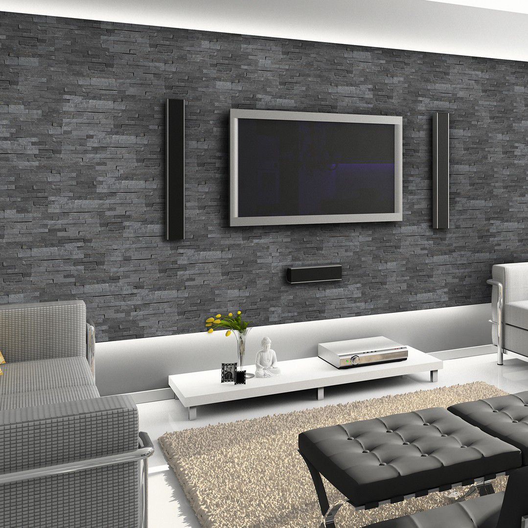 Indoor Stone Wall natural stone wall cladding panel / patio / indoor / textured