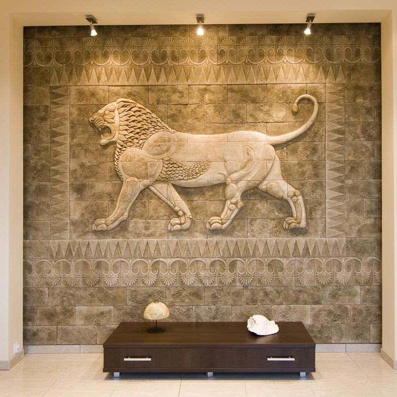 Decorative Stone Walls stone wall cladding panel / interior / textured / decorative