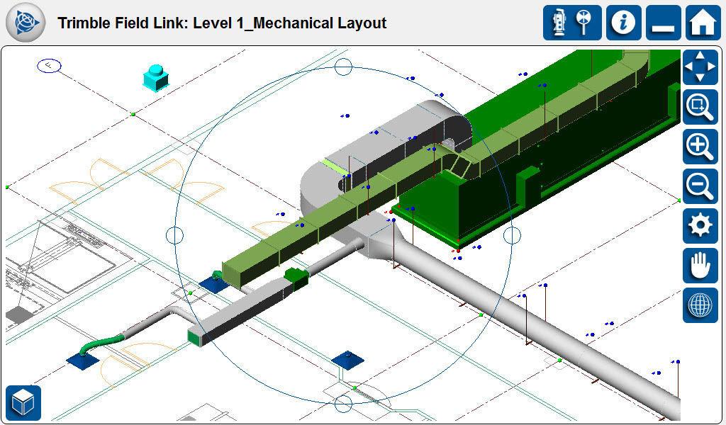Drawing software / analysis / 3D / 2D - FIELD LINK FOR MEP - TRIMBLE ...
