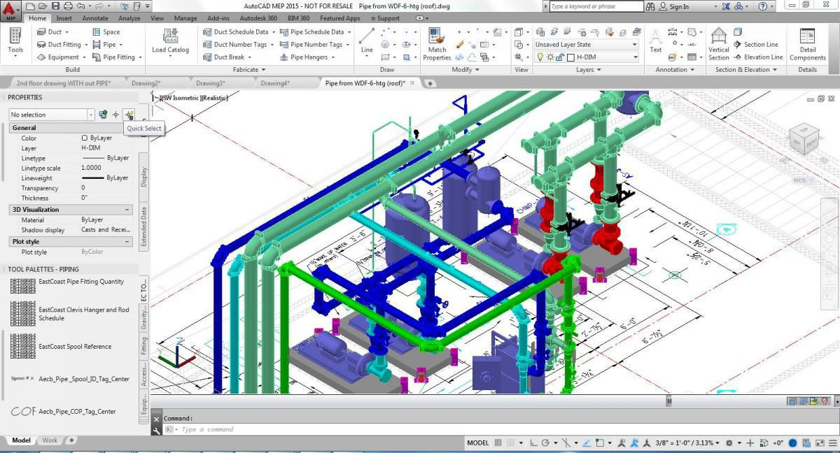 CAD software to create a design