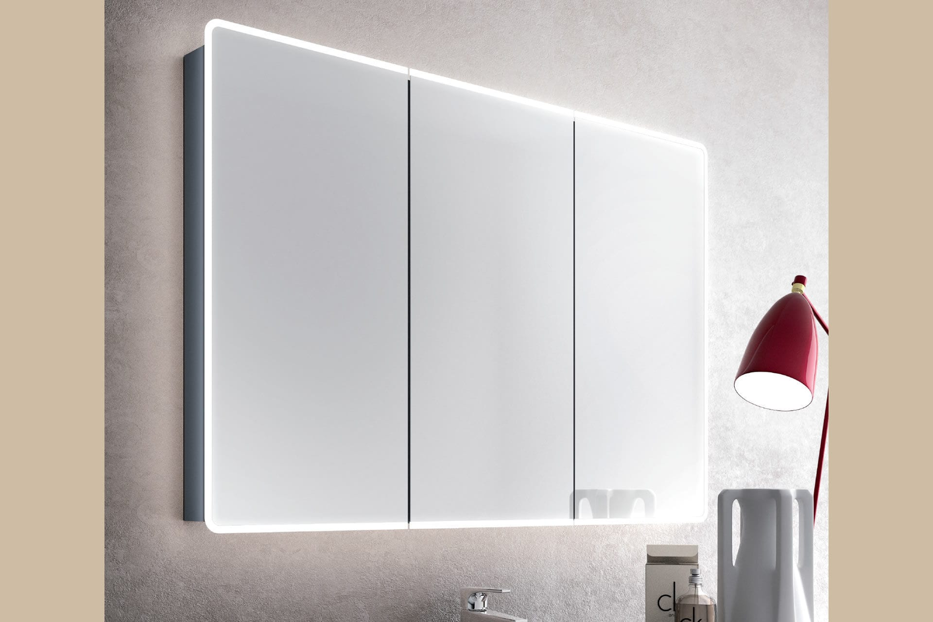 Mirrored bathroom wall cabinet - SERENA - ISA BAGNO