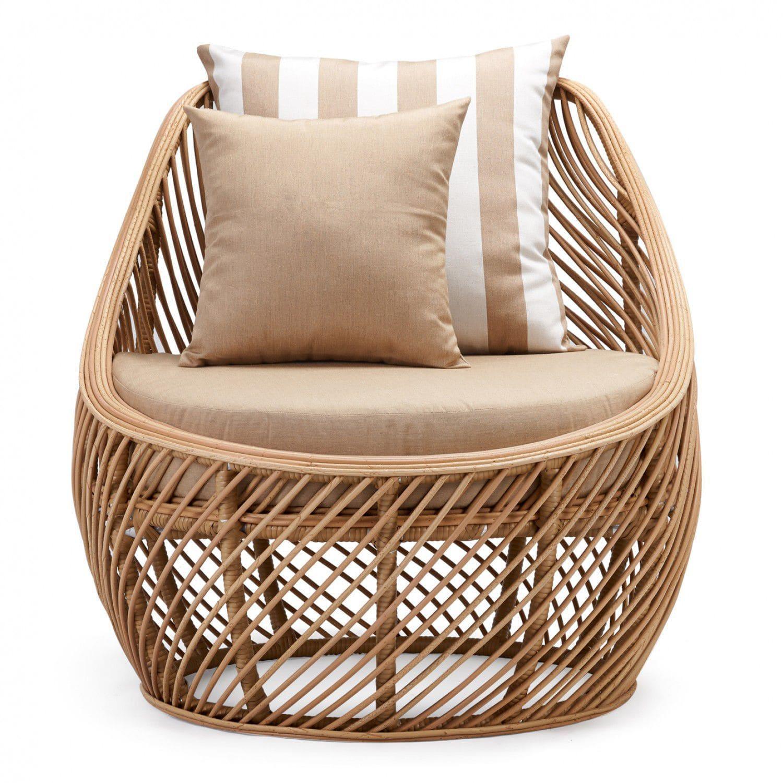 Contemporary armchair / aluminum / synthetic rattan / garden ...