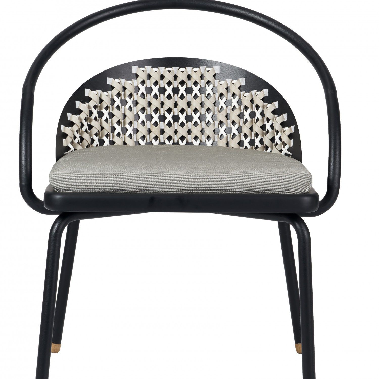 Contemporary Dining Chair / Steel / Synthetic Rattan   CRISS CROSS :  M16CH 203 By Trimode Studio