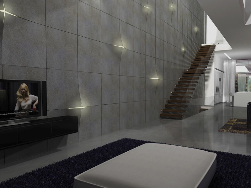 Indoor Tile Wall Concrete