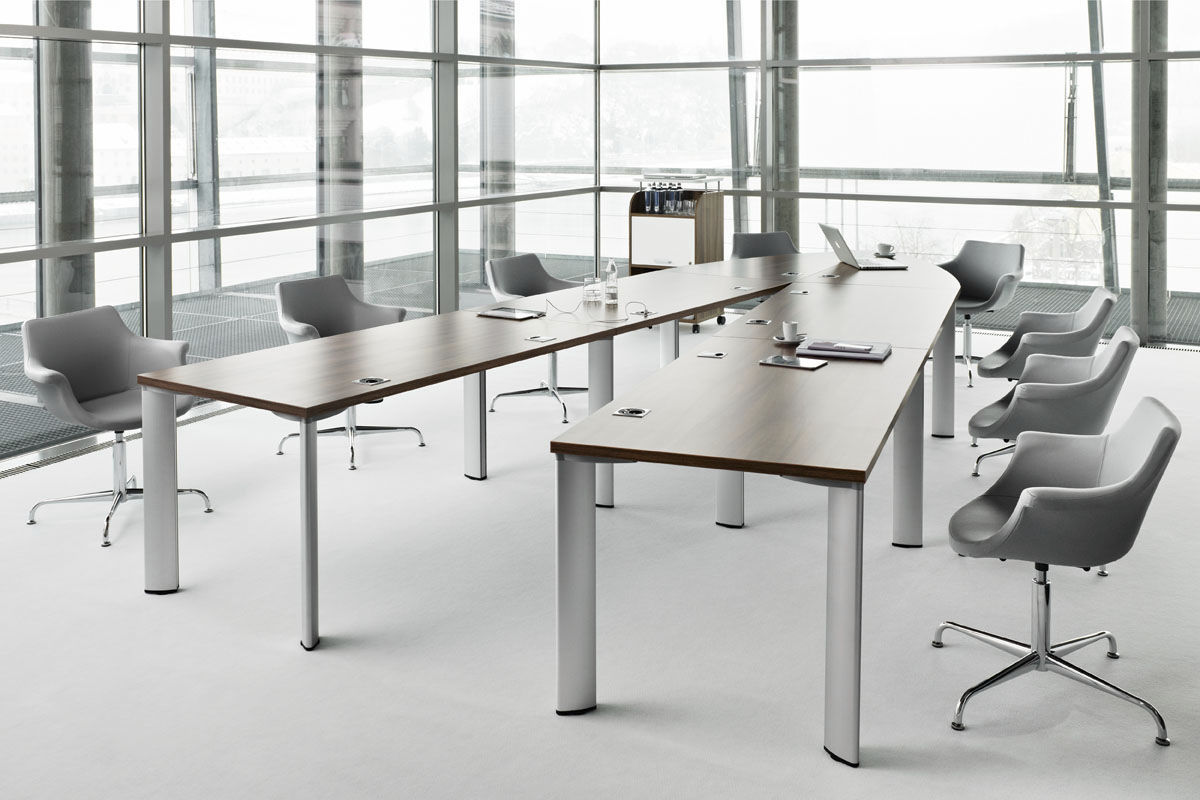 Contemporary Conference Table Wood Veneer Oval Ushaped CX - U shaped conference table