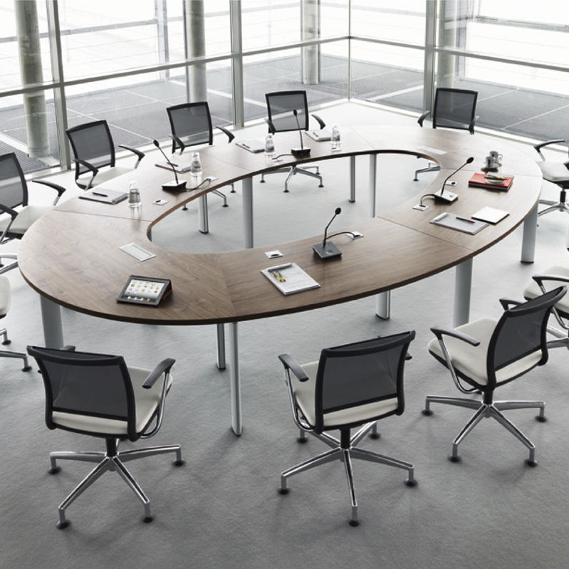 Contemporary Conference Table Wood Veneer Oval Ushaped CX - U shaped conference table designs