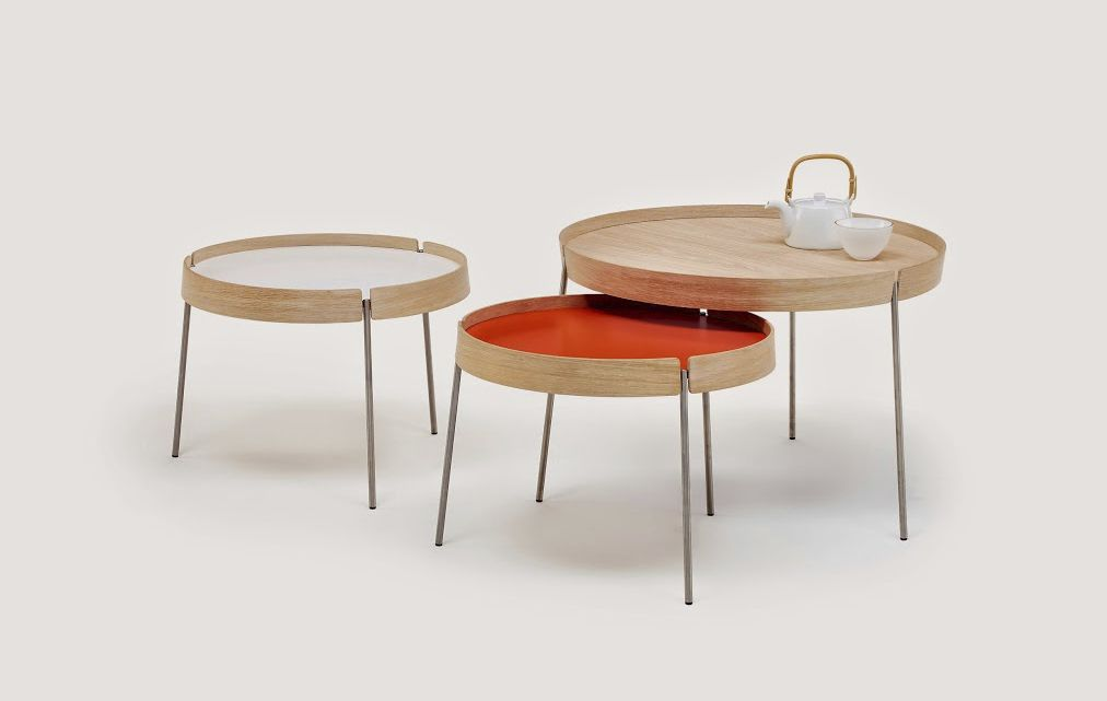 ... Contemporary Nesting Tables / Wooden / Laminate / Round ...