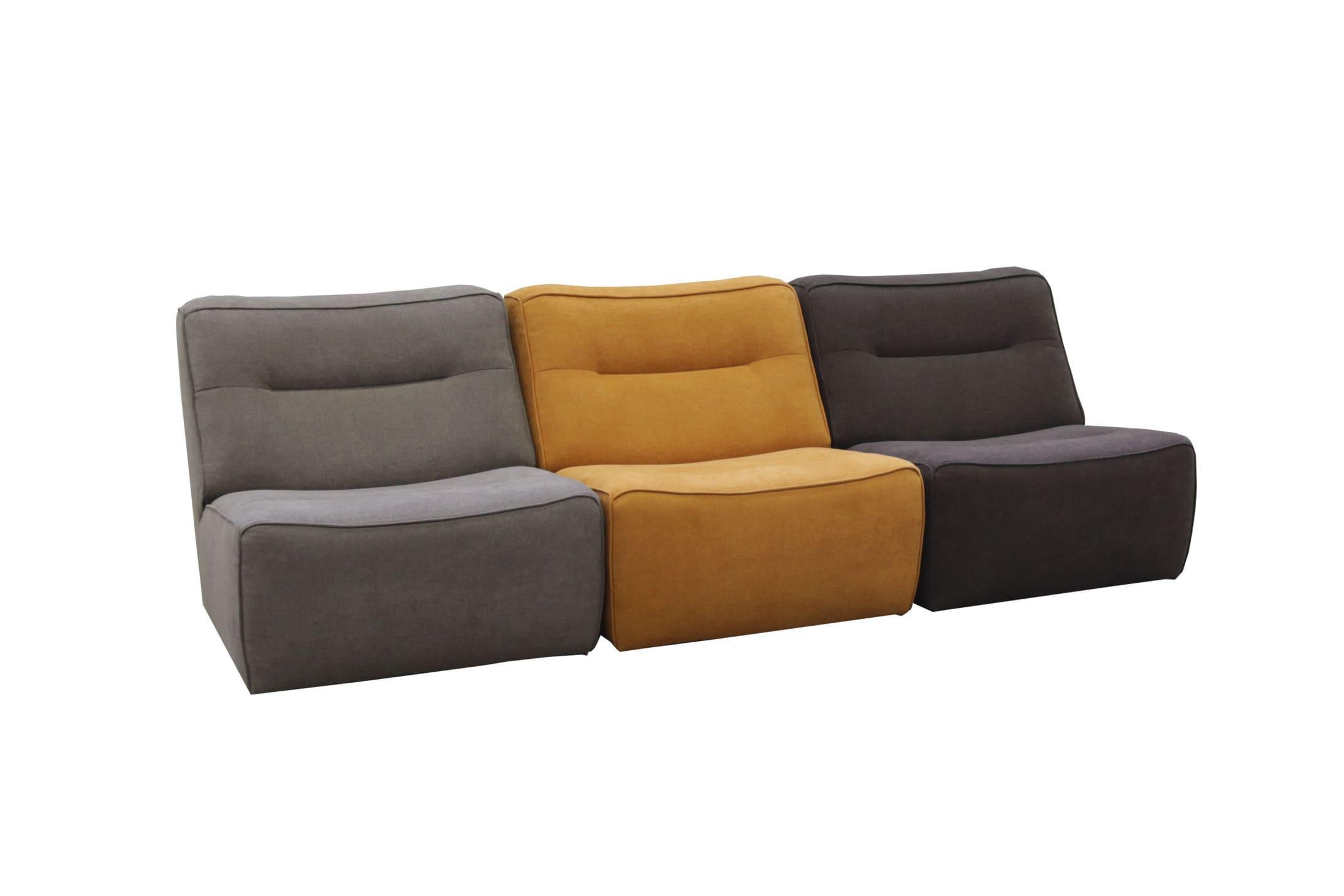 Modular sofa contemporary leather fabric ARENA Luonto