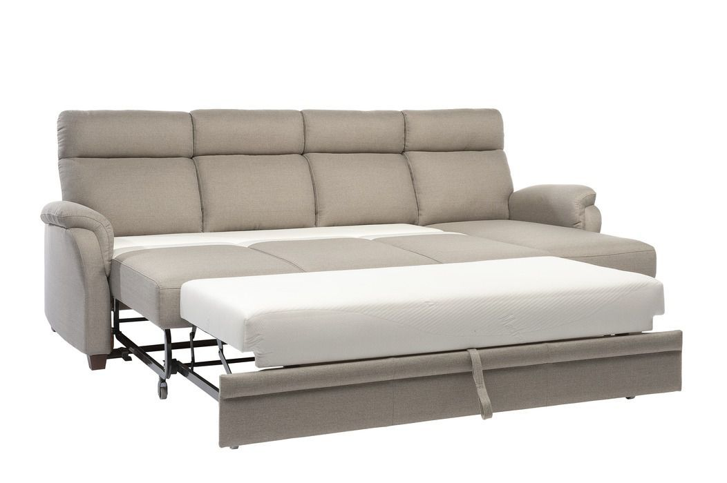 Sofa Bed Contemporary Leather Fabric
