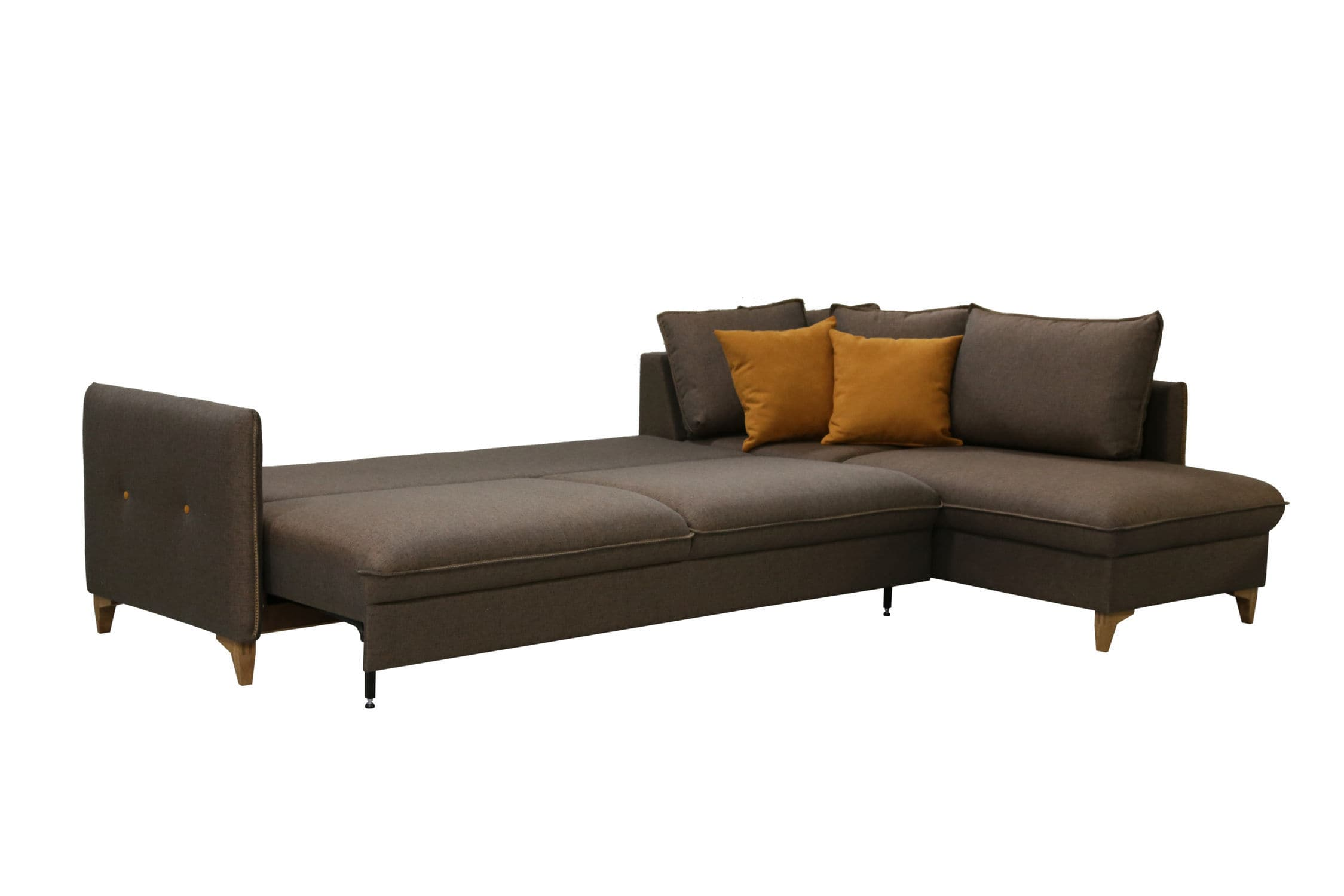 Sofa bed / corner / contemporary / leather - PEPPER - Luonto furniture
