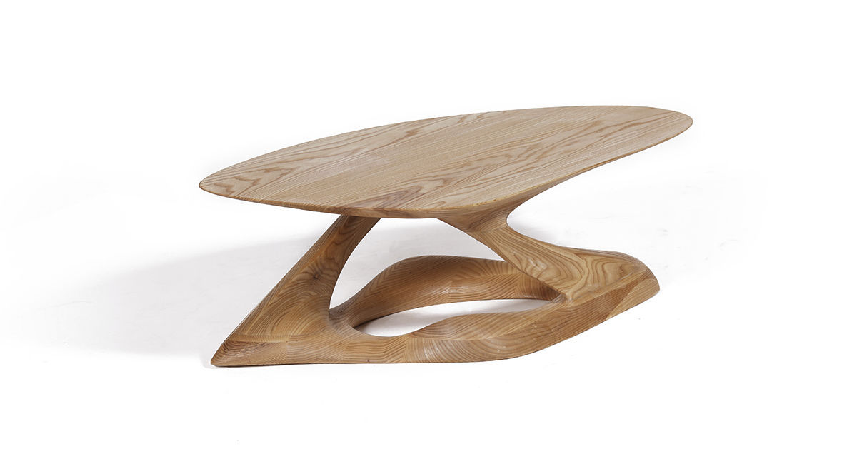 organic furniture design. Organic Design Coffee Table / Solid Wood Ash - PLIE Furniture