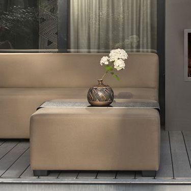 contemporary coffee table / fabric / rectangular / garden - malta