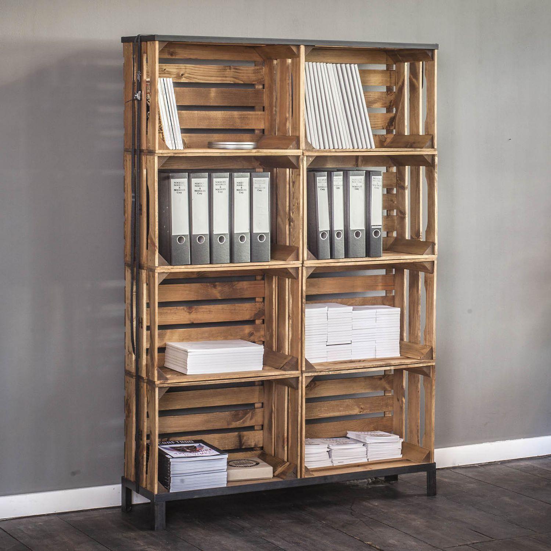 Diy Regal contemporary shelf wooden commercial diy crate 2 10 noodles