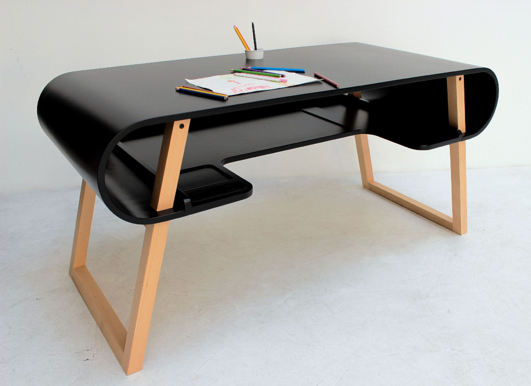 solid wood desk rubens by jeanfranois bellemre compagnie - Solid Wood Desk