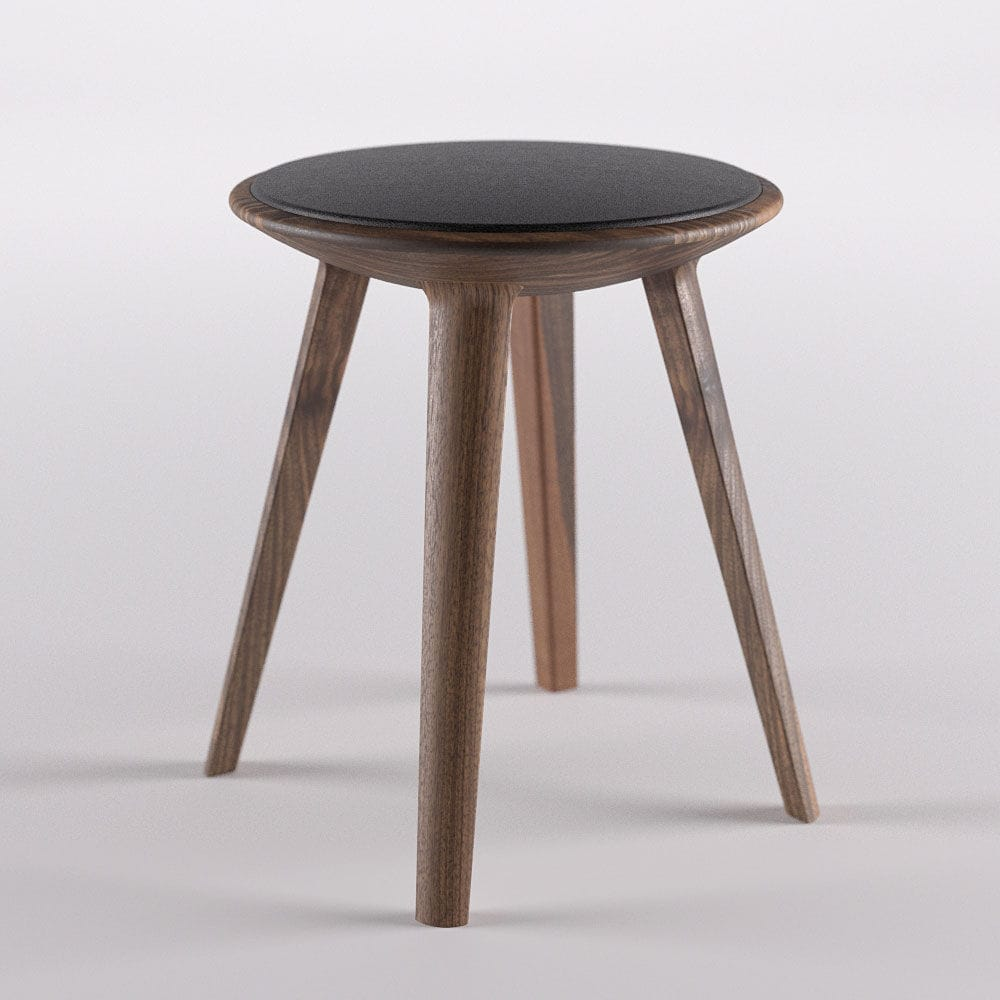 contemporary stool  solid wood  leather  fabric  kalota by  - contemporary stool  solid wood  leather  fabric  kalota by redesign