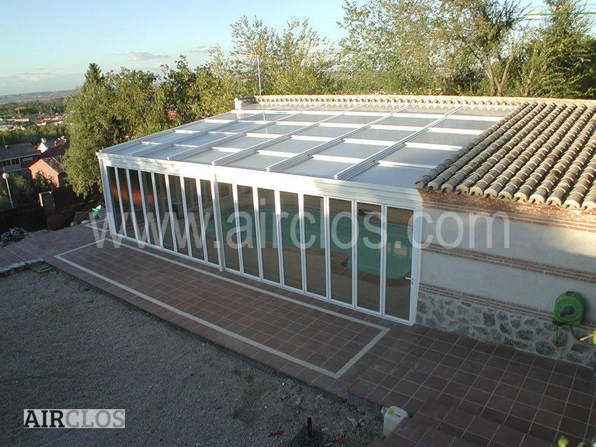 Aluminum Roofing / Sliding / Retractable   AIRCLOS T5000 4 PANEL TRIPLE  ROOF SKYLIGHT