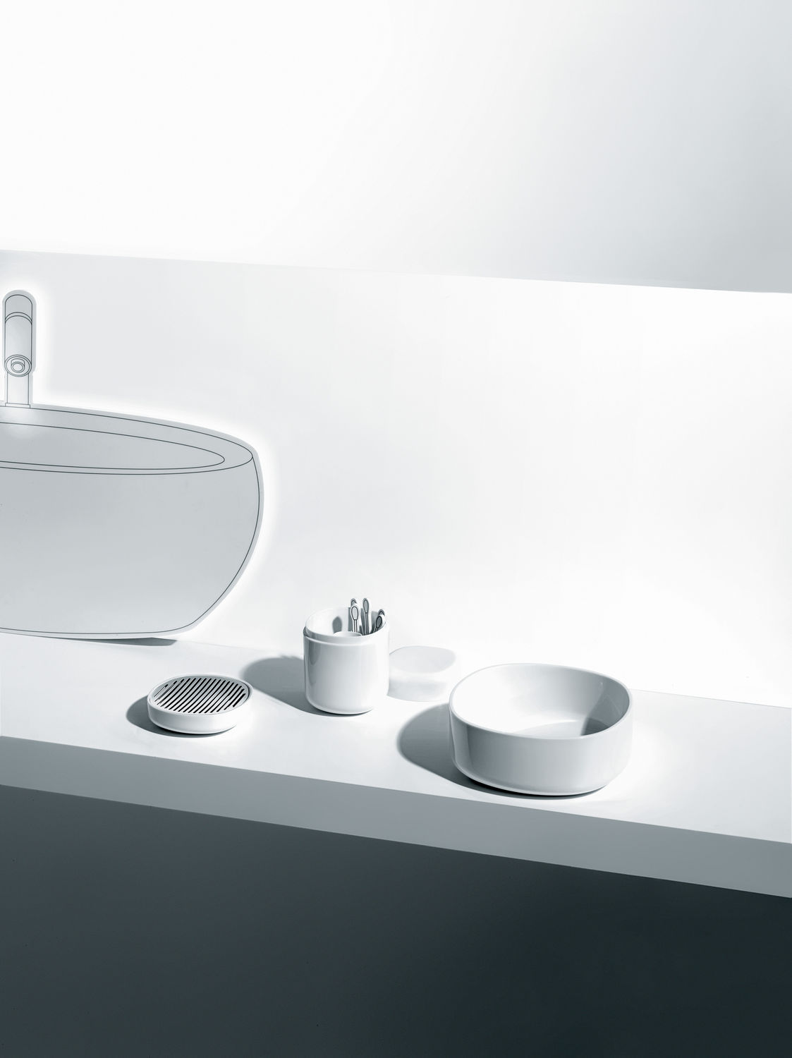 Stainless steel soap dish / by Piero Lissoni - BIRILLO - ALESSI S.P.A.