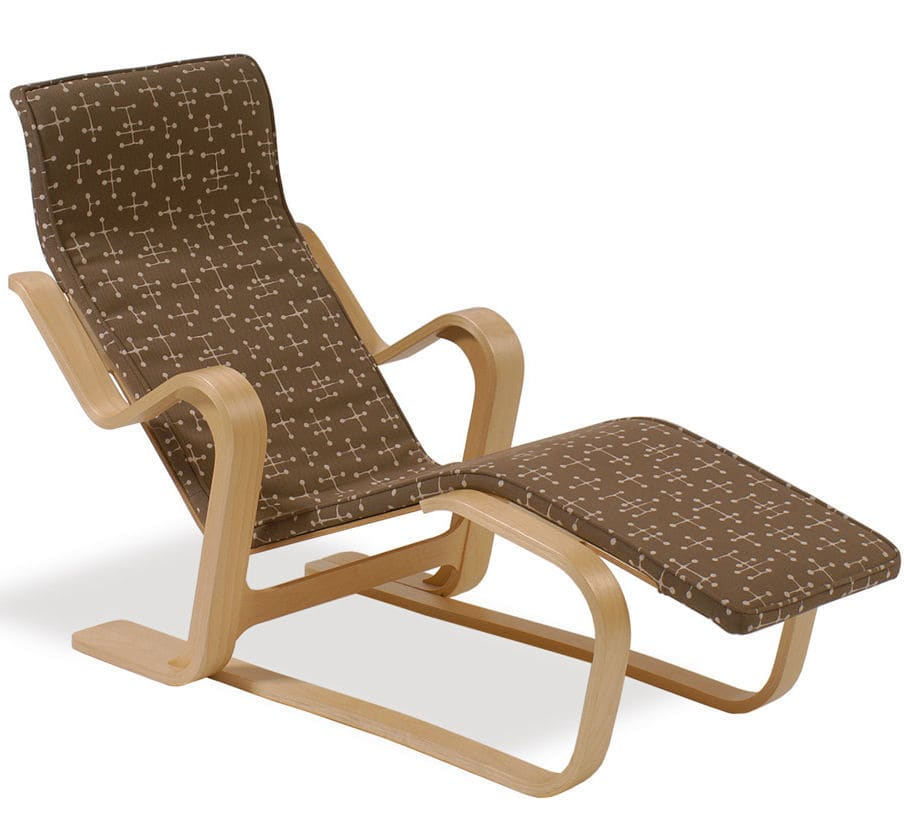 Contemporary Chaise Longue Wooden By Marcel Breuer