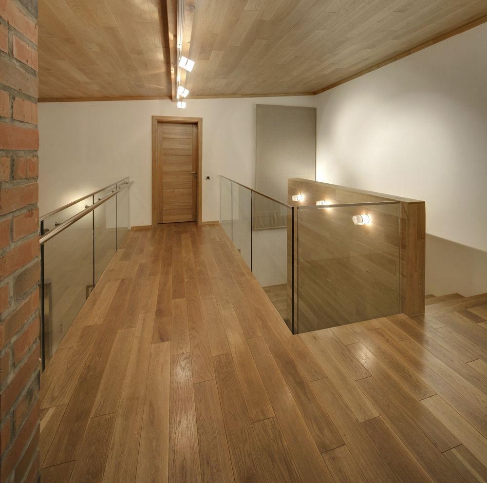 Solid Parquet Floor Glued Iroko Oak Flooring