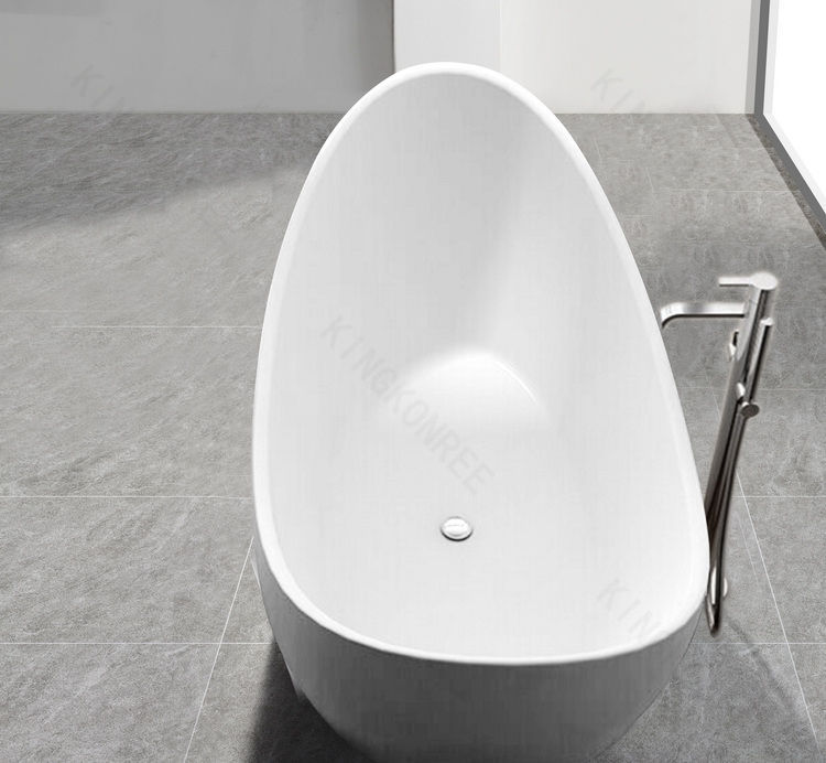 Free Standing Bathtub Oval Solid Surface Stone Resin Kkr B072 Kkr