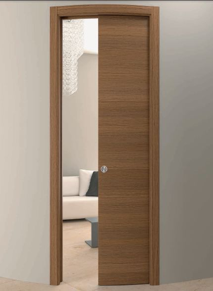 indoor door / pocket / wooden / curved - CURVED DOORS : door pocket - pezcame.com