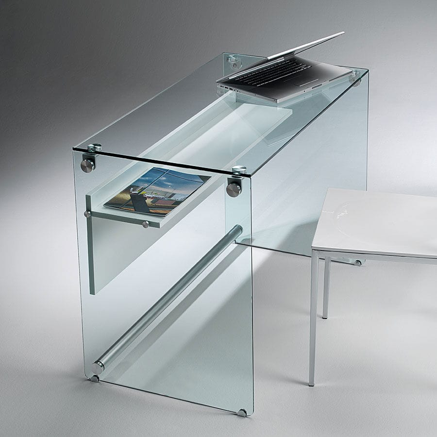 Contemporary Computer Table / Glass / For Laptop Computers   OPERHA :  SCRIBA 0/81
