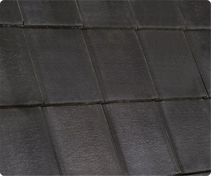Flat Roof Tile Concrete Black Smooth