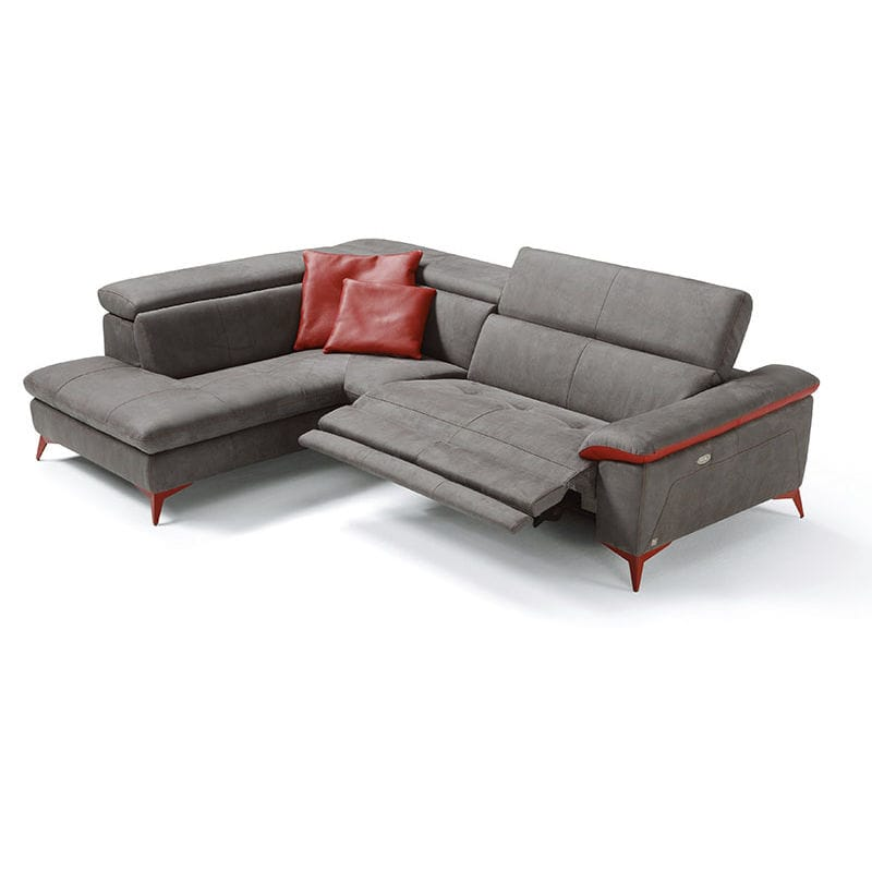 Corner Sofa Contemporary Leather Reclining Martine