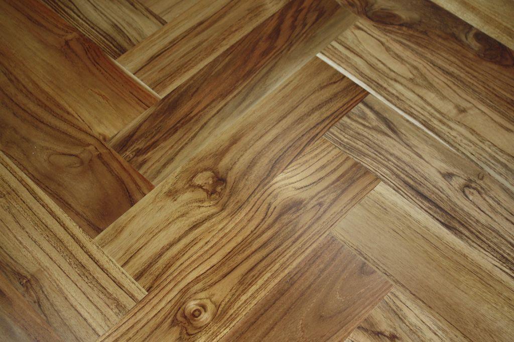 Engineered Parquet Flooring / Nailed / Floating / Glued   DECK HERRINGBONE:  TEAK NATURAL