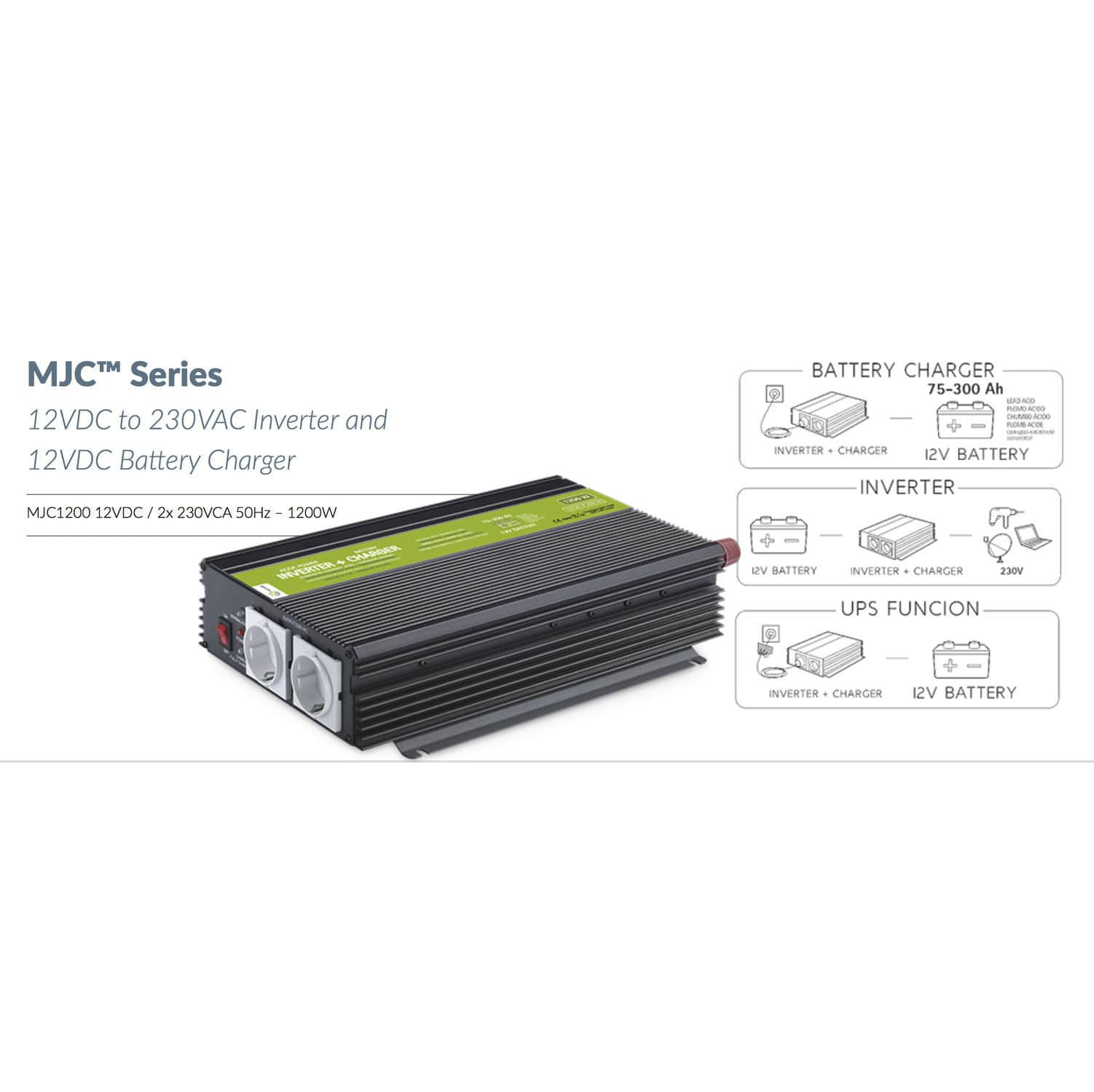 Solar Inverter Isolated Transformerless Mjc Series Xunzel 12v Power Supply