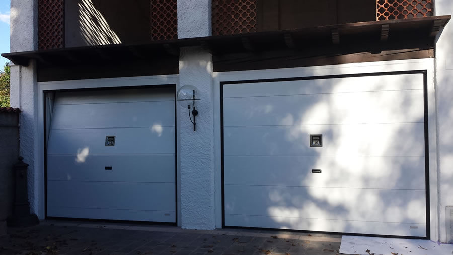 sectional garage door / metal / polyurethane foam / automatic ... & Sectional garage door / metal / polyurethane foam / automatic - AIR ...