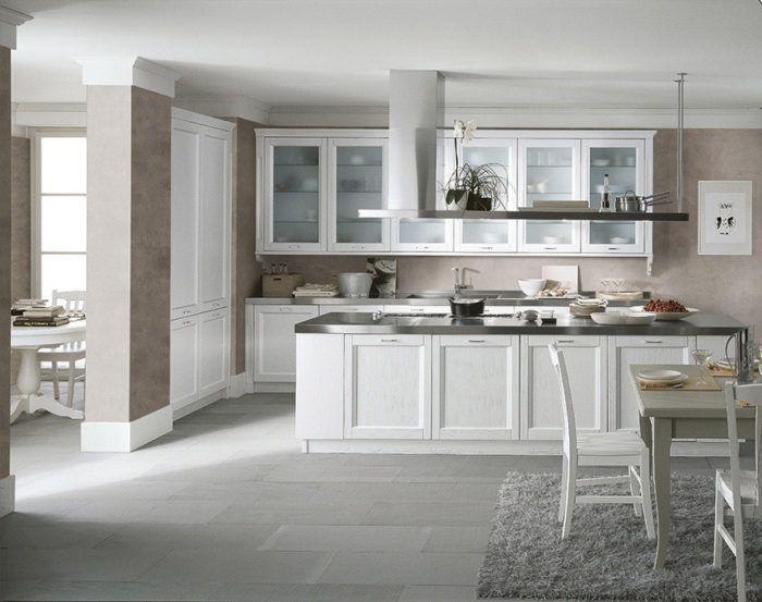 Traditional Kitchen Wooden Island With Handles N1 Scandola