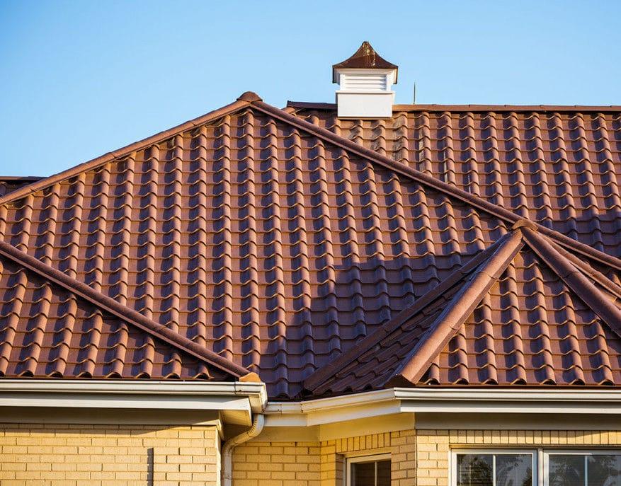 Metal Roof Tile / Brown / Traditional Look TUSCAN STONE MATTERHORN METAL  ROOFING ...