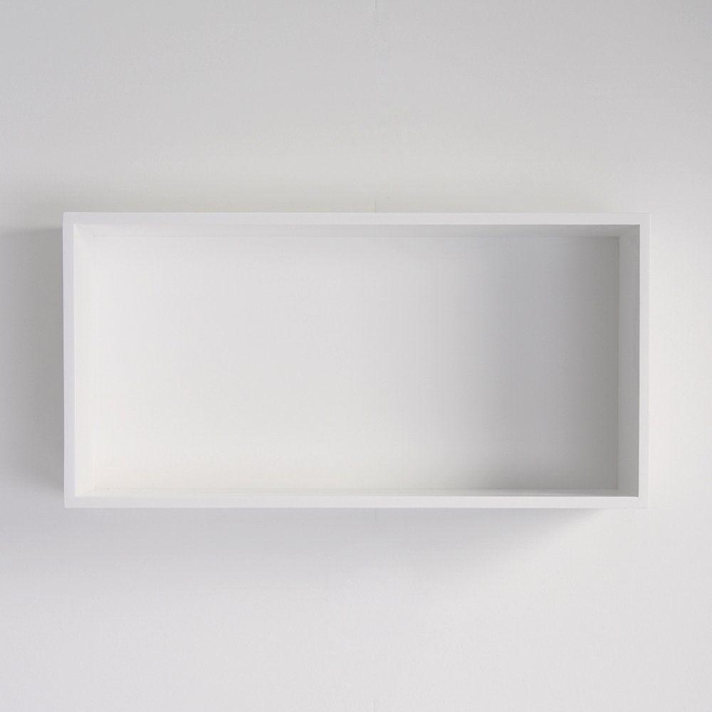 Wall Mounted Shelf / Minimalist Design / Cast Mineral / Bathroom   600  SQUARE
