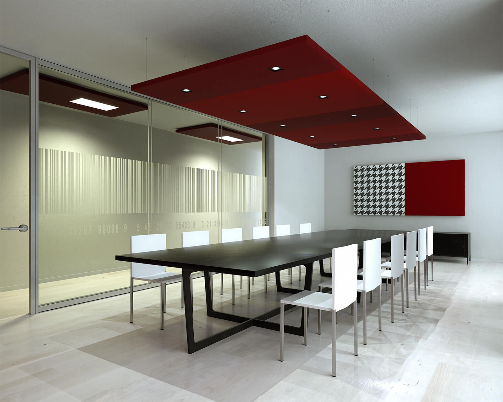 Ceiling acoustic panel / metal / decorative / colored - NUVOLA ...