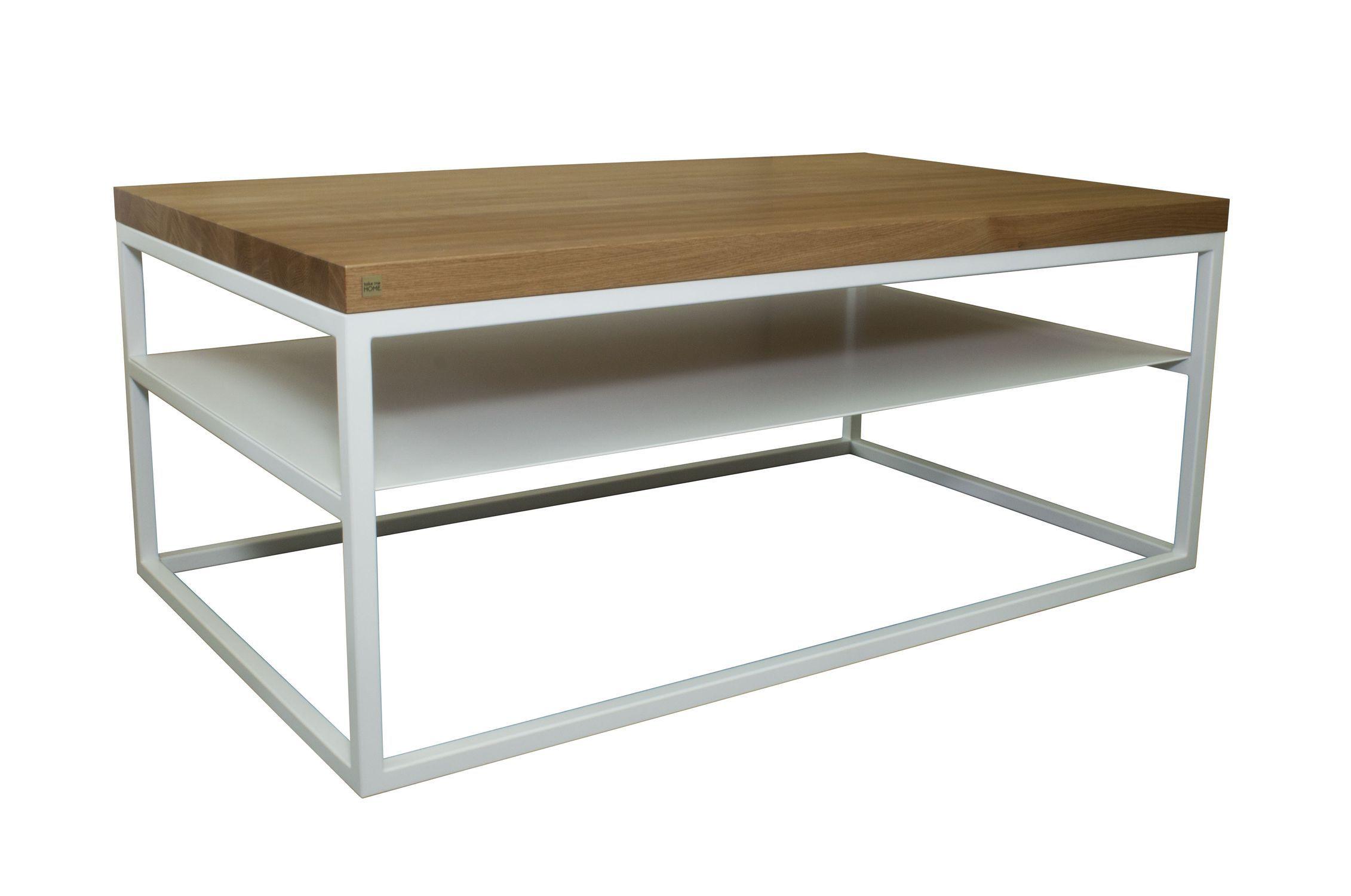 contemporary coffee table oak steel rectangular malmo