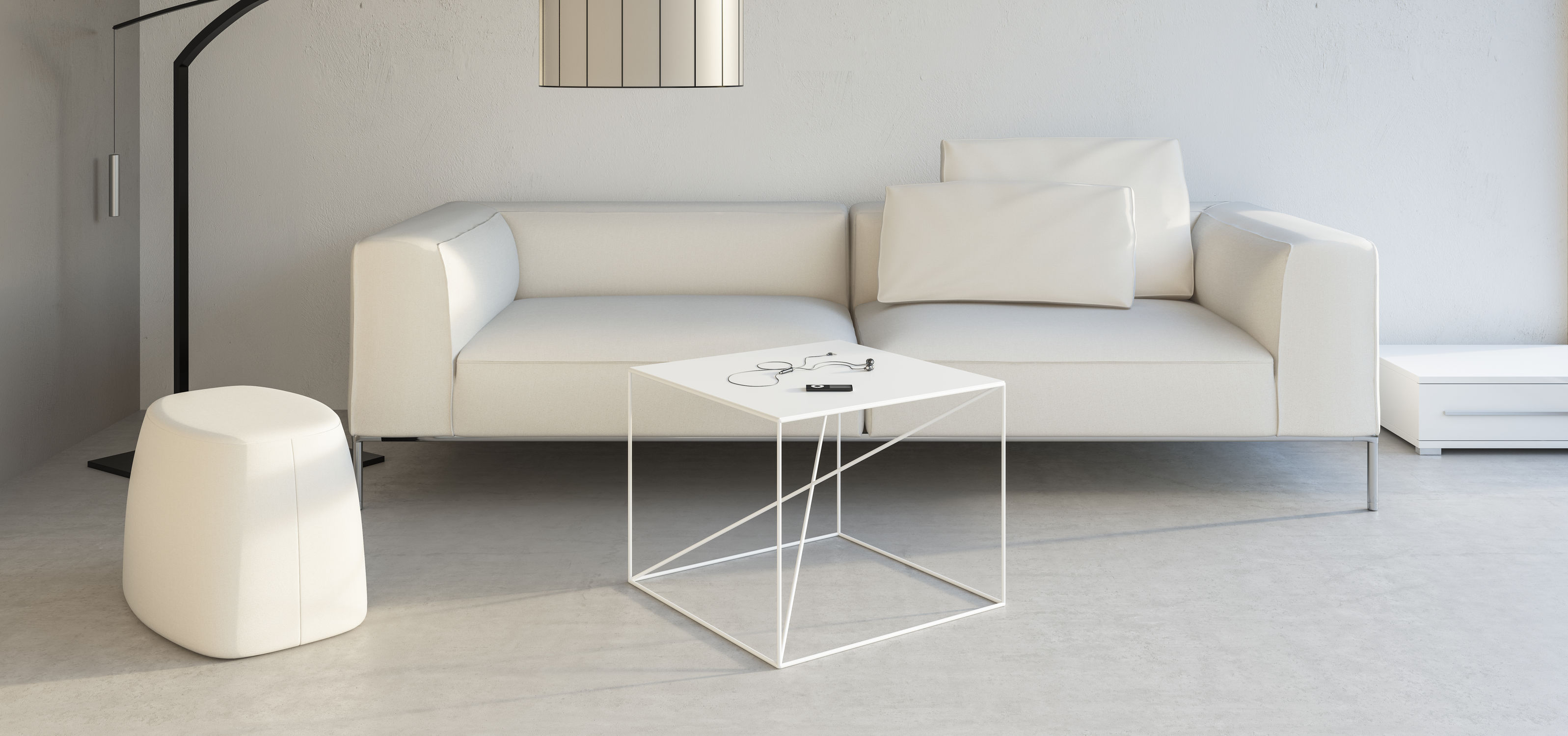 ... Contemporary Coffee Table / Powder Coated Steel / Rectangular / White  SMALL X Take Me ...
