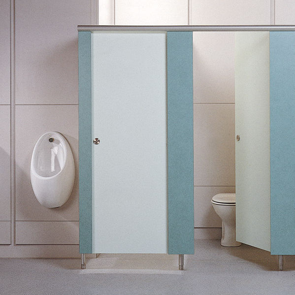 Public washroom toilet cubicle / stainless steel / MDF - BASSO ...