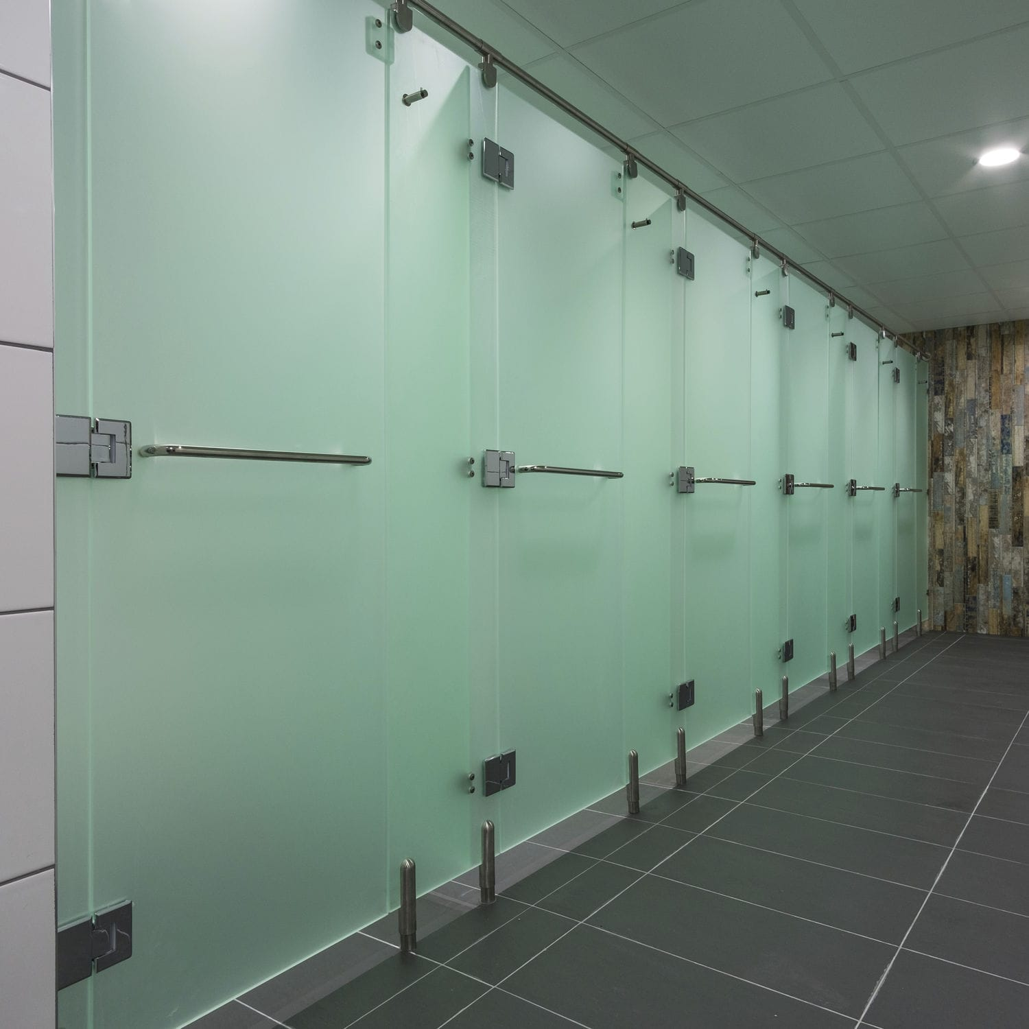 Acrylic shower cubicle / stainless steel / for public washroom / for ...