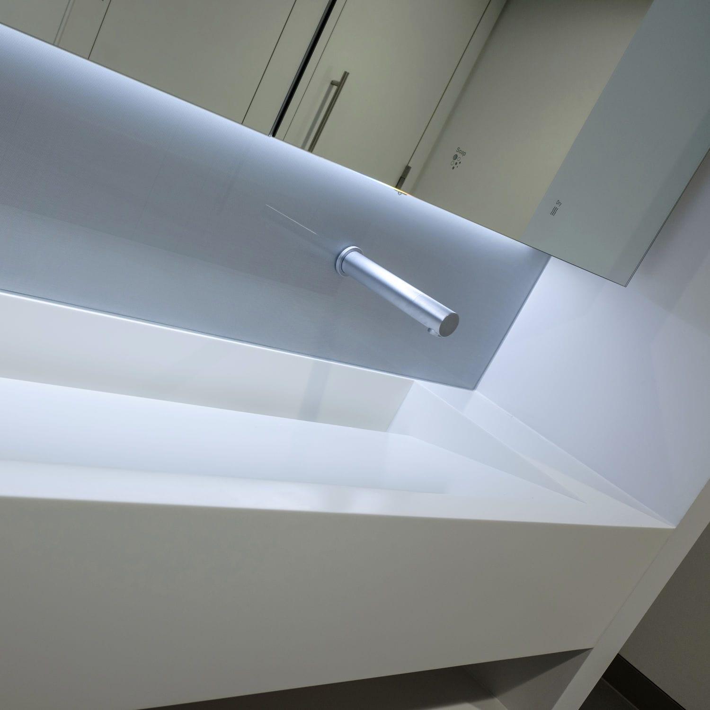 Solid Surface vanity top / professional - CORIAN - Washroom Washroom ...
