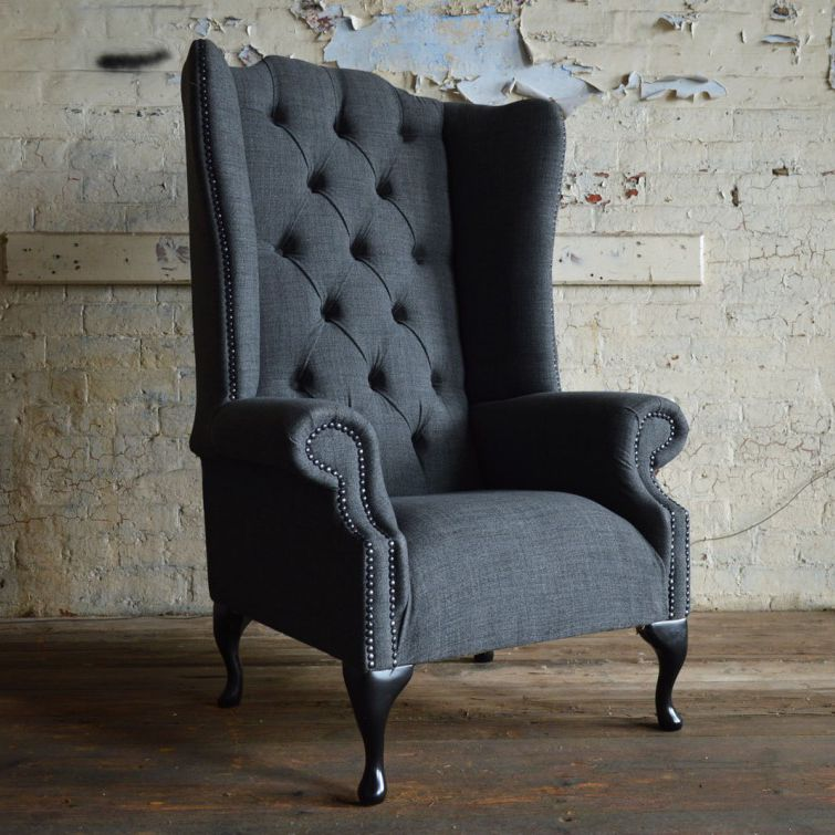 Chesterfield Armchair / Wool / Wing / High Back   NUVO