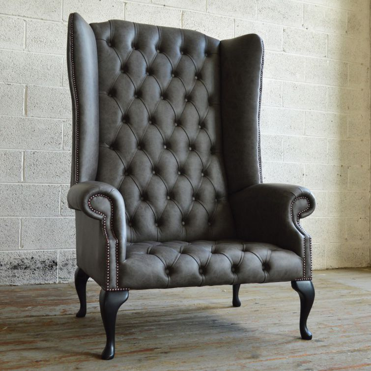 Chesterfield armchair / leather / wing / high-back - GRANDE BOSS ...