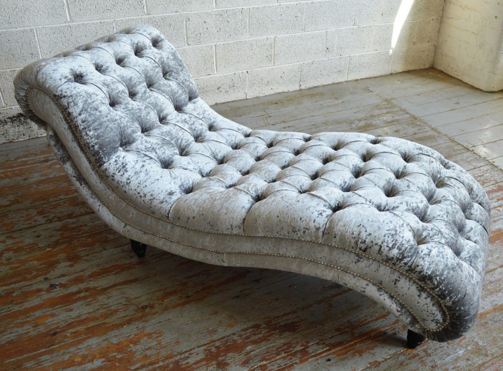 Chesterfield chaise longue / fabric / wooden - BUDE - Abode Sofas