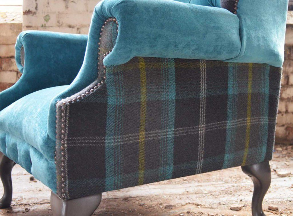 Delicieux ... Chesterfield Armchair / Fabric / Wing / High Back ...